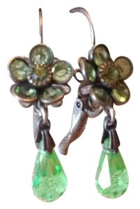 Liz Palacios Liz Palacios Green Crystal Drop Earrings