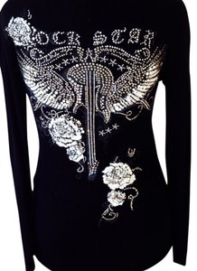Preload https://item2.tradesy.com/images/twelve-by-twelve-los-angeles-black-with-white-rhinestones-rock-star-pullover-tee-shirt-size-6-s-742551-0-0.jpg?width=400&height=650