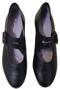 BeautiFeel Leather Size 38 Mary Jane Style Black Pumps