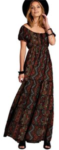 Brown multi Maxi Dress by