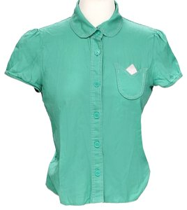 Marc Jacobs Peter Pan Collar Button Down Shirt Green