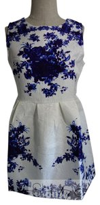 short dress White and Blue on Tradesy