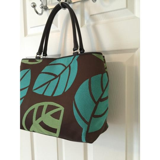 Talbots Tote in Green Blue Image 1