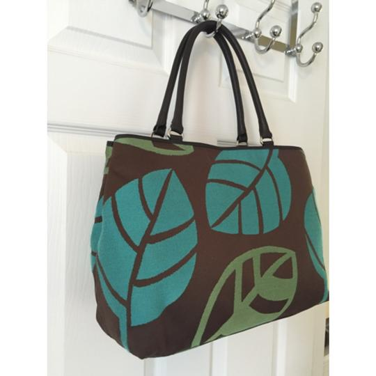 Talbots Tote in Green Blue Image 2
