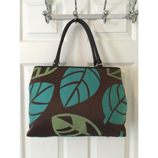 Talbots Tote in Green Blue Image 4