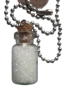 Magical Pixie Fairy Dust Sand Glow In The Dark Charm Glass Bottle Necklace