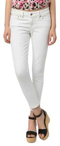 Levi's Urban Outfitters High Waisted High Rise White Cropped Skinny Jeans