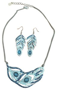 Accessorize peacock set of a necklace and earrings