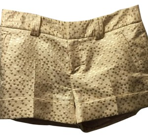 LC Lauren Conrad Dress Shorts Gold
