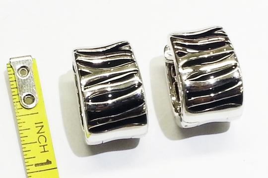Roberto Coin Roberto Coin 18 Karat White Gold Earrings With Enameled Zebra pattern
