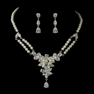 Elegance By Carbonneau Vintage Look Pearl And Cz Wedding Jewelry