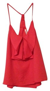 Poetry Never Worn Bow Summer Coral Halter Top