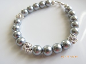 Other Set Of 7 Bridesmaid Grey Pearl Bracelets Weddings Party Bridal Jewelry