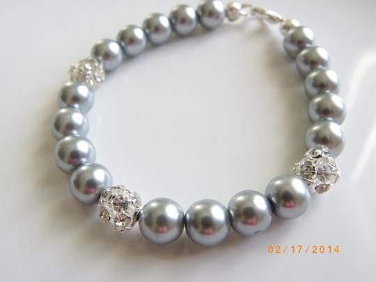 Grey Set Of 7 Bridesmaid Pearl Party Bracelet