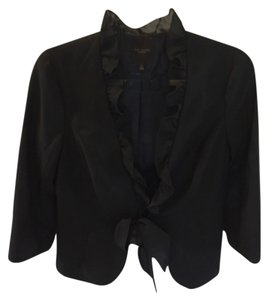 The Limited Lace Ruffle Black Blazer