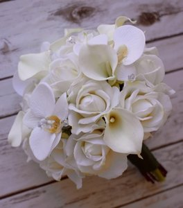 Natural Touch Off-white Bouquets (1 Bride 3 Bridesmaids)