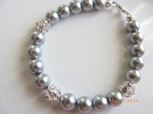 Grey Set Of 6 Bridesmaid Pearl Party Bracelet