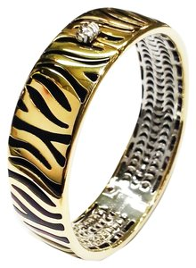 Roberto Coin Roberto Coin 18 Karat Yellow Gold Bracelet With Enameled Zebra pattern
