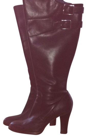 Kenneth Cole Reaction Buckle Leathrer Classic Style Lug Full Zip Black Boots
