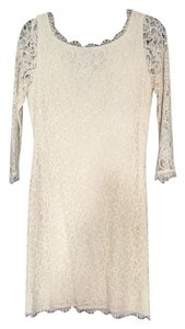 Diane von Furstenberg Lace Formal Sheath Mini Dress