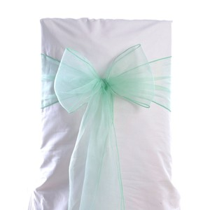 Ten Chair Sashes In Mint Color
