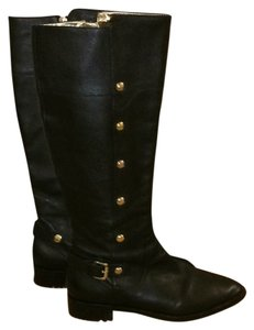 Michael Kors Black with gold hardware Boots