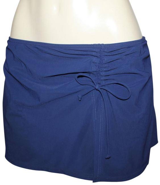 Gottex Gottex Flirty Skirted Ruffled Hipster Bikini Bottom-only (12) dark blue