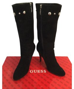 Guess By Marciano Black suede Boots