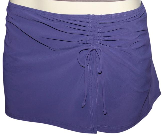 Item - Violet/Aubergine Flirty Skirted Ruched Split Hipster (12) Bikini Bottom Size 12 (L)