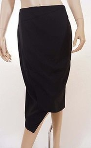 Cooper St Womens Lined Stretch Below Knee Length Wrap Pencil Skirt Black