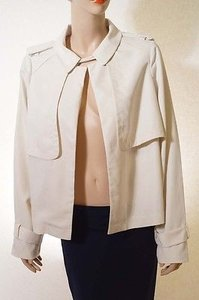 Vince Camuto Womens Off Wrap Coat White Jacket