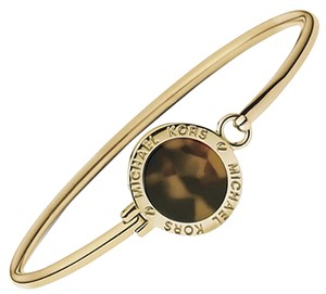 Michael Kors NEW Michael Kors Heritage Women's Bangle Bracelet Gold Tone TortoiseDisc MKJ3560