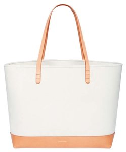 Mansur Gavriel Canvas Tote in Cream/cream