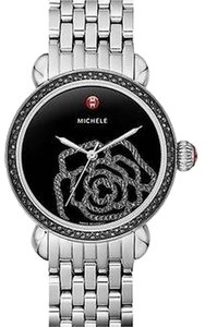 Michele Nwt Michele csx Jardin Diamond black mother of pearl with Diamond rose dial (224 diamonds0.91ct) watch $2495