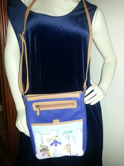 Park Avenue Adjustable Strap Dogs Ipad Notebook Cross Body Bag