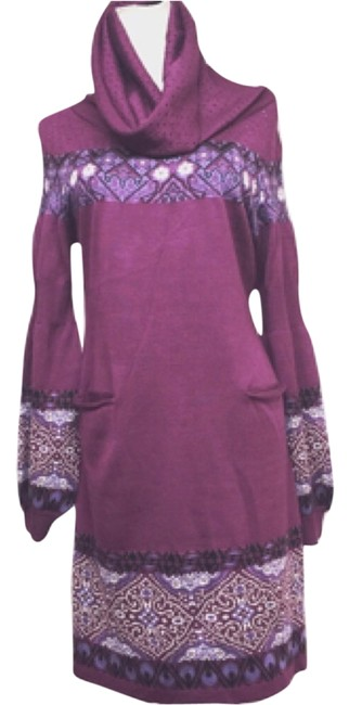 Ports 1961 Sweaterdress Knit Cowlneck Front Pockets Tunic