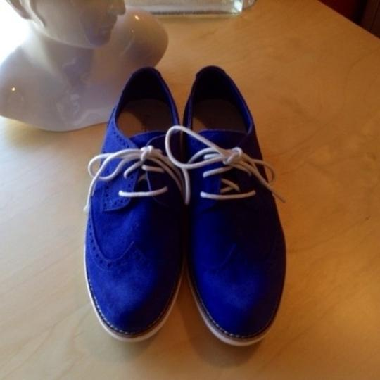 Cole Haan Lunargrand Size 5 Brogue Oxfords New Cobalt Blue Flats