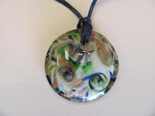 Other NEW MURANO STYLE GLASS PENDANT NECKLACE