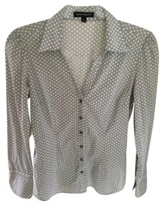 Express Button Down Shirt Grey and white