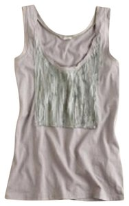 J.Crew Ruffle Top Pewter Grey