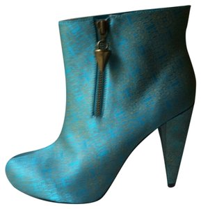 Christian Siriano for Payless Patterned Teal, Gold Boots