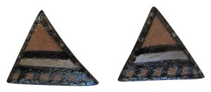 CUSTOM-MADE NEW CERAMIC TRIANGULAR EARRINGS