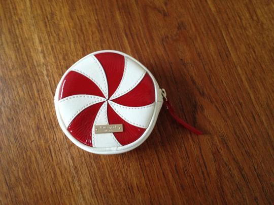 info pour 132f9 0d7f2 Kate Spade Multi - Red/White Bon Mot Peppermint Coin Purse Wallet 40% off  retail