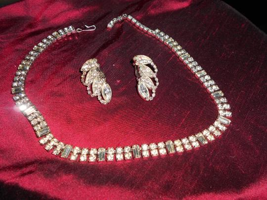 Weiss Furs STUNNING SET OF WEISS SIGNED CLIP EARRINGS AND WEISS? PRINCESS NECKLACE