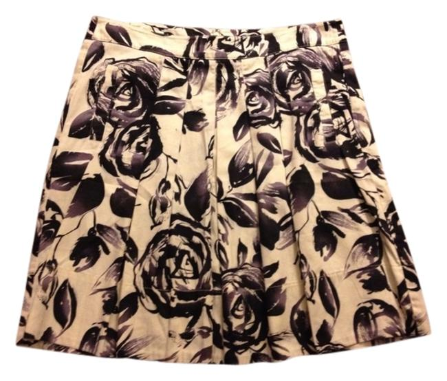 Item - Purple Rosie Pleated Front Watercolor Floral Print Skirt Size 8 (M, 29, 30)