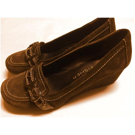 Marc Fisher Chocolate Brown Wedges Image 1