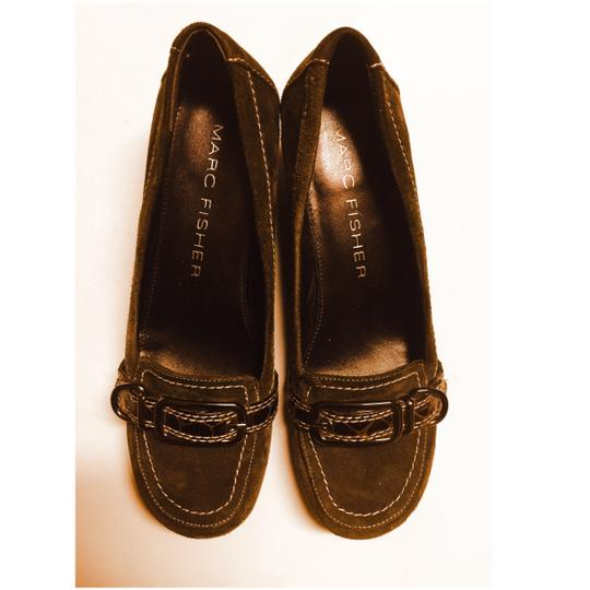 Marc Fisher Chocolate Brown Wedges Image 4