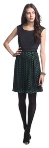 Sandra Darren short dress Black Laser Cut Fit & Flare on Tradesy