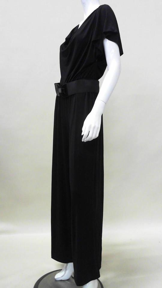 37f56333f5884 AGB Black Macy s Belted Jumpsuit Pant Suit Size 16 (XL