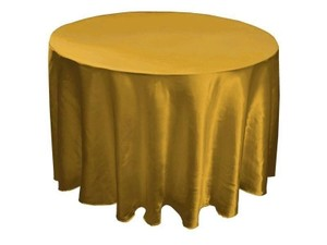 "Gold 24 120"" Tablecloth"